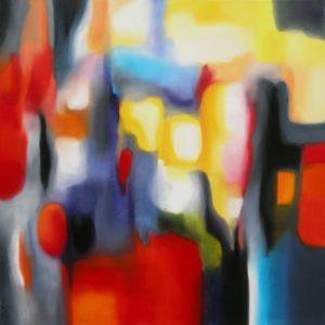 Edith, the twilight of the ephemeral, acrylic on canvas, 80x80cm, Sold