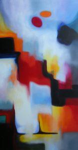 Tears of light, acryilic on canvas, 60x120cm, Sold