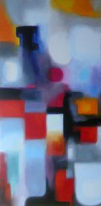 The gates of the dispensable, acrylic o canvas, 60x10cm, Sold
