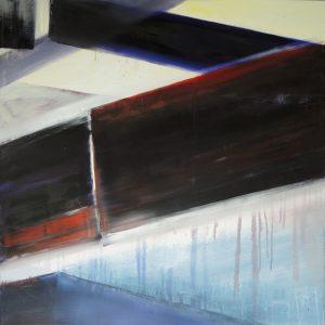 Brocken time, oil on canvas, 80x80cm