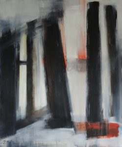 The pillars of the forgotten, oil on canvas, 100x120cm