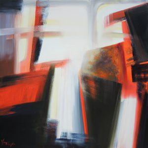 Ephemeral passages, oil on canvas, 100x100cm, Sold