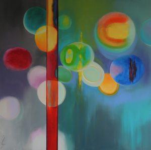 A little dream, acrylic on canvas, 120x120cm