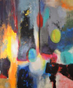 It is like a dream, acrylic on canvas, 100x120cm