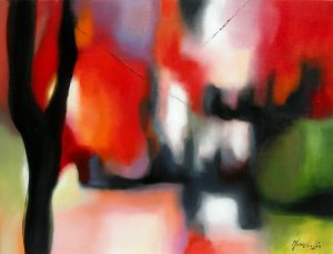 Edith or The presence of the instant, acrylic on canvas, Sold