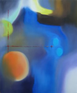 The blue path, oil on canvas, 50x60cm, Sold
