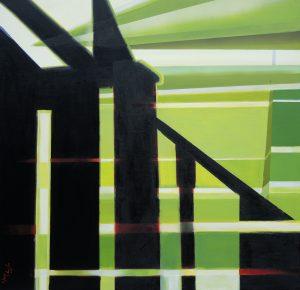 The sanctuary of memory, acrylic on canvas, 100x100cm