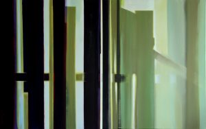 The temple of silence, acrylic on canvas, 81x130cm