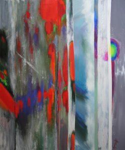 The paths of light, acrylic on canvas, 100x120cm
