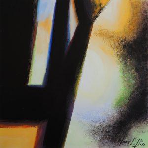 November's light, acrylic on paper,27,5x27,5