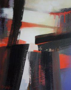 Ephemeral walkways, acrylic on paper 35x45cm