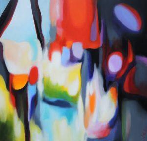Presence of the inefable, acrylic on canvas, 100x100cm, Sold