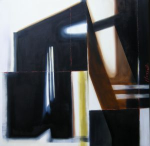 Encounter and break, oil on canvas, 100x100cm, Sold