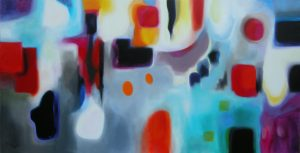 The sason of happiness acrylic on canvas 195x97cm, Sold