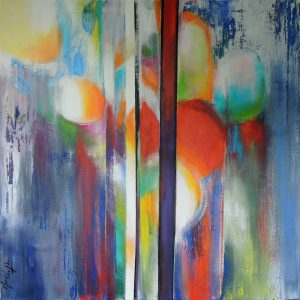 To evanescence, acrylic on canvas, 80x80cm