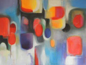 Inside journey, oil on canvas, 116x89cm