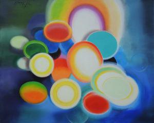 Where is the peace acrylic on linen canvas, 81x65cm