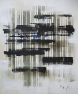 The pillars of the emptiness 1, acrylic on canvas 100x120cm