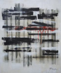 The pillars of the emptiness 2, acrylic on canvas 100x120cm