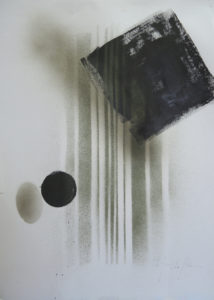 The shadow of oneself 1 42x59cm mixed medias on paper
