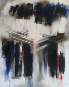 The road, acrylic on canvas 81x100cm