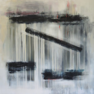 Where are they? Acrylic on canvas, 100x100cm